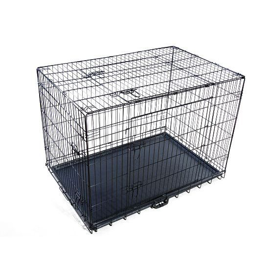 cage de transport chien en m tal 121x74x83cm neuf achat vente caisse de transport cage de. Black Bedroom Furniture Sets. Home Design Ideas
