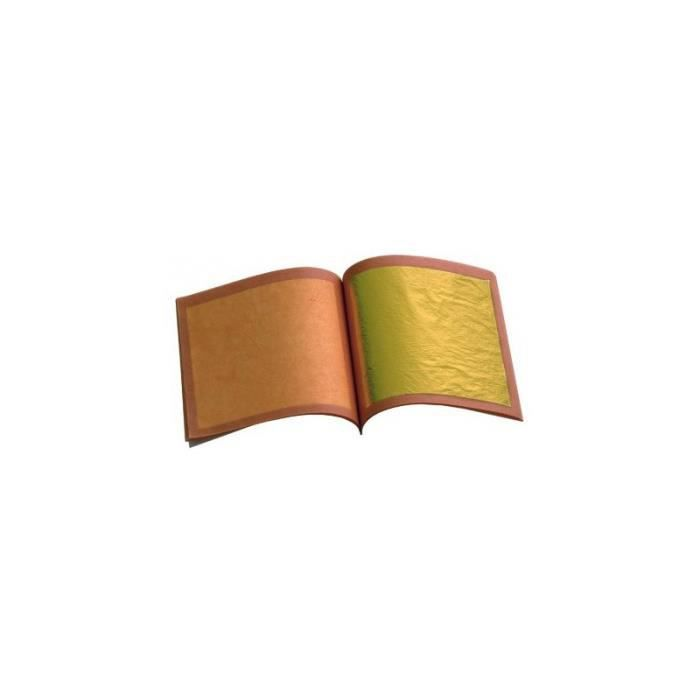 Carnet 25 feuilles d 39 or barry 80x80mm achat vente d coration p tisser - Feuille d or decoration ...