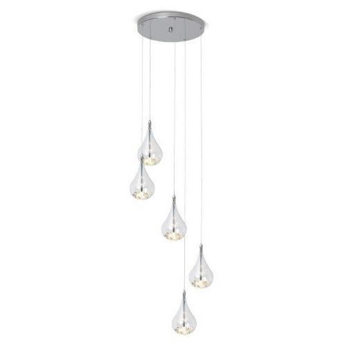 brilliant g14773 15 lampe suspension maira avec 5 boules en verre lumineuses hauteur r glable. Black Bedroom Furniture Sets. Home Design Ideas