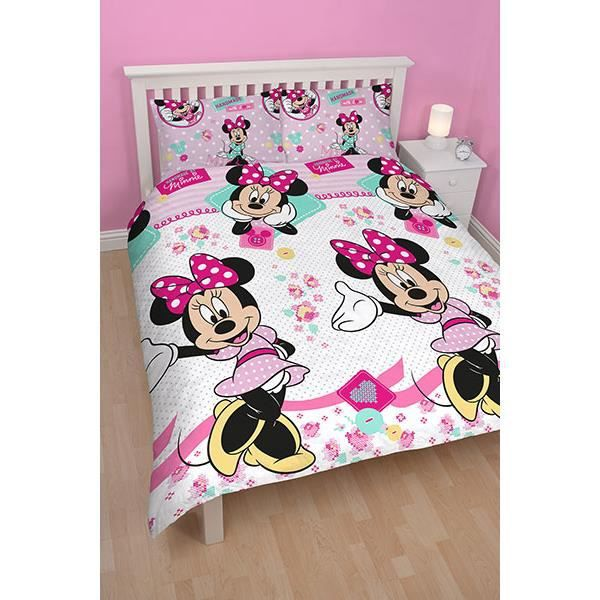 parure de lit double minnie handmade achat vente. Black Bedroom Furniture Sets. Home Design Ideas