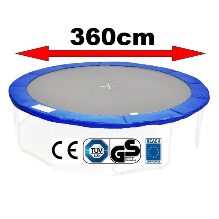 coussin de protection pour trampoline 360 cm bleu achat. Black Bedroom Furniture Sets. Home Design Ideas