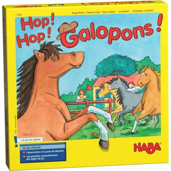 JEU SOCIÉTÉ - PLATEAU Hop ! Hop ! Galopons !