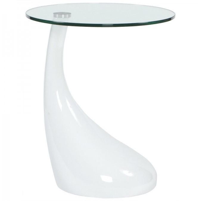 Table d 39 appoint design koma en verre transparen achat - Table console en verre ...