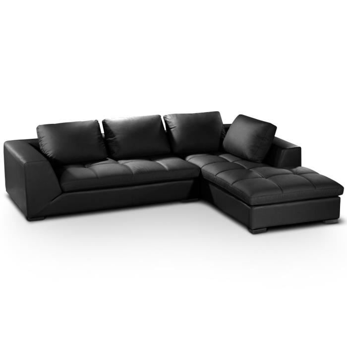 canap d 39 angle family noir achat vente canap sofa. Black Bedroom Furniture Sets. Home Design Ideas