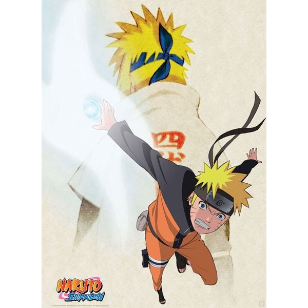 Poster shippuden 39 naruto yondaime 39 52x38cm achat for Decoration murale naruto