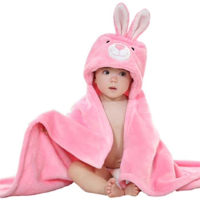 mture sortie de bain a capuche drap de bain bebe mignon lapin peignoir sortie de bain pour b b. Black Bedroom Furniture Sets. Home Design Ideas