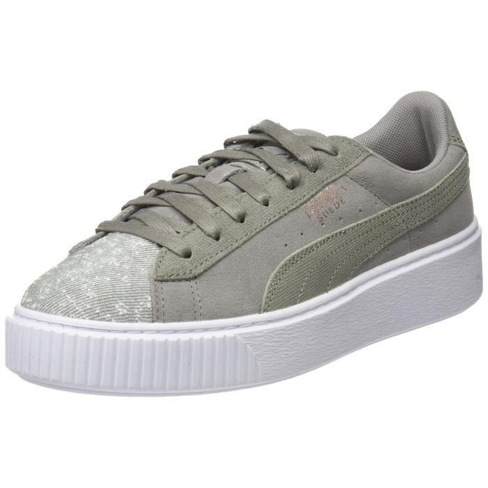 Puma Baskets en daim à plateforme pour femmes avec galets et chaussures basses 3YG96N Taille 36 1 2