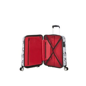 Minnie Comics White Comics- Spinner Small Bagage Cabine 36 liters 55 cm American Tourister Wavebreaker Disney Blanc