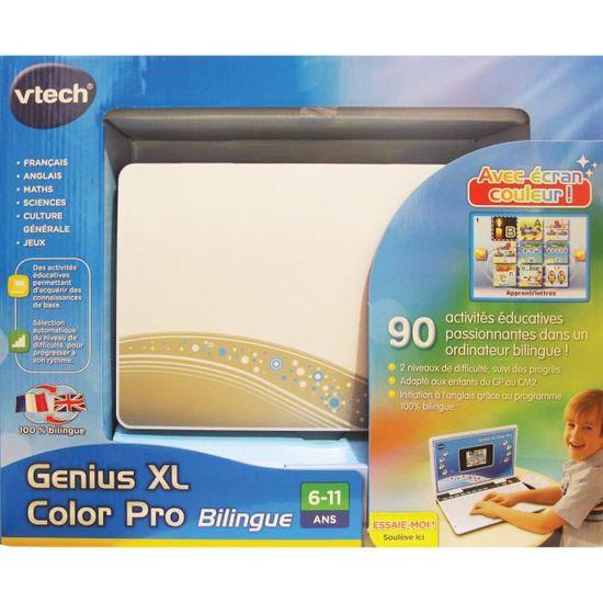 VTECH Genius XL Color Pro Bilingue Argent