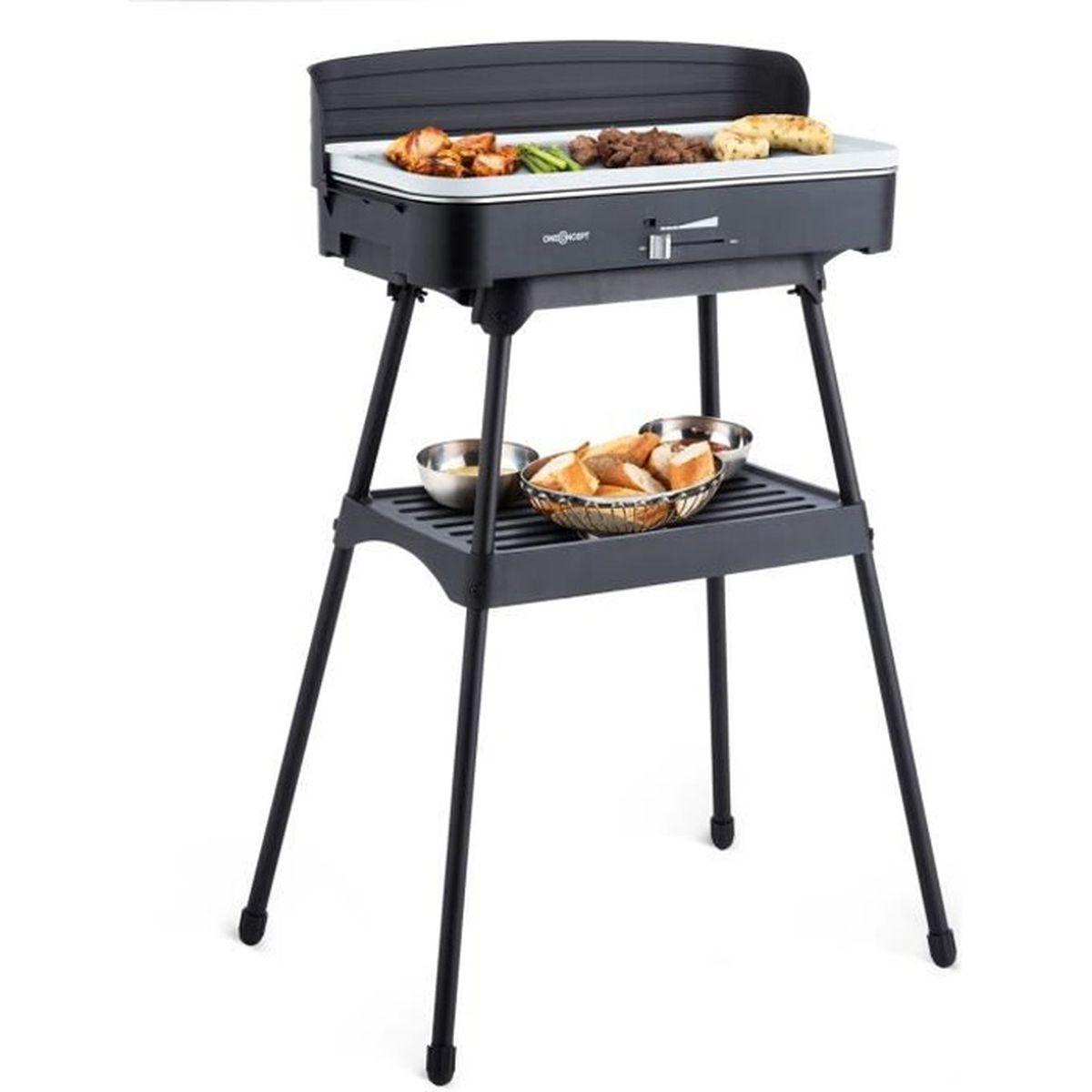 Oneconcept Porterhouse Barbecue Electrique Sur Pied Grill De