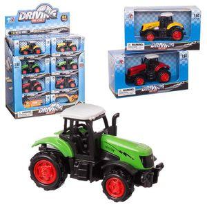 TRACTEUR - CHANTIER Tracteur métal 8 cm 3 modèles