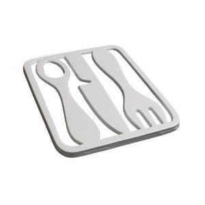 DESSOUS DE PLAT  Dessous de plat métal blanc design couverts - Lot