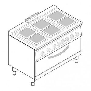 CUISINIÈRE - PIANO Piano de cuisson électrique sur four électrique st