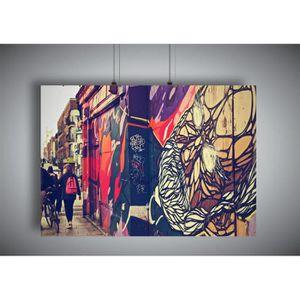 AFFICHE - POSTER Poster Street Art Graffiti Londres A4 ( 21x29,7cm)