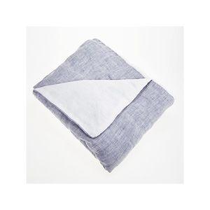 TAIE D'OREILLER Taie d'oreiller 100% lin lavé 65x65 Bleu Jean - Bl