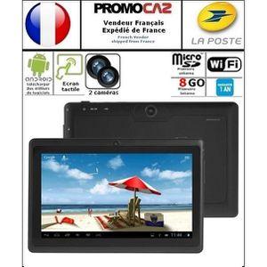 TABLETTE ENFANT Tablette E76 noire, 7 pouces, 8 GO, Android 4.4, W
