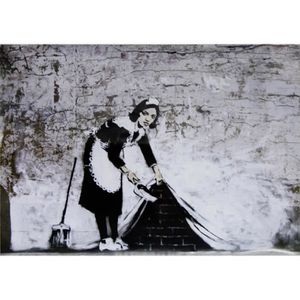 AFFICHE - POSTER Poster Graffiti Banksy Sweeping Under Wall