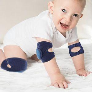 Bébé ramper Antidérapant genou soutien sécurité genou Pad Doux Respirant Genou Wra 1 paire