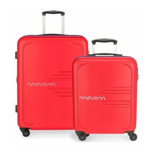SET DE VALISES Lot de 2 valises rigides 55-69 Movom Rouge flash -