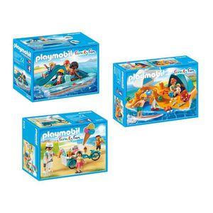UNIVERS MINIATURE Playmobil 9424-25-26 Set Playmobil Family Fun 3 bo