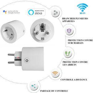 PRISE TÈLÈCOMMANDÈE Prise Wifi connectée intelligente compatible Alexa