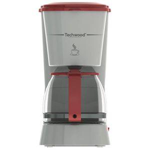 CAFETIÈRE TECHWOOD TCA-685 Cafetière filtre - Gris et Rouge