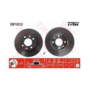 1 Unités TRW df2586 Disque de frein