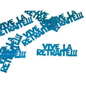 CONFETTIS Confettis de table 'vive la retraite' - Turquoise
