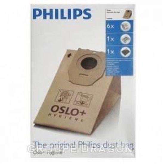 2x hepafilter Convient Pour Philips FC 8446//01 20 sacs pour aspirateur