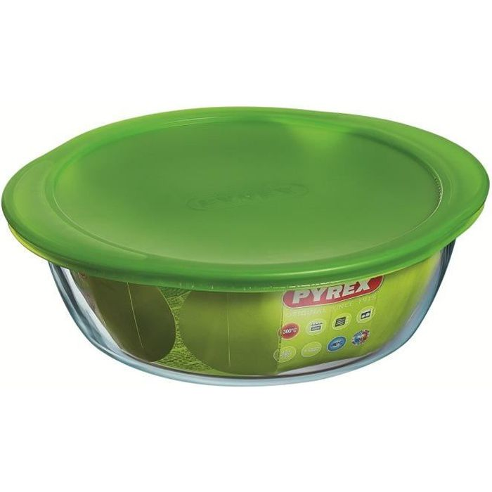 PYREX Plat à four + couvercle Cook and Store Basic 15 cm transparent