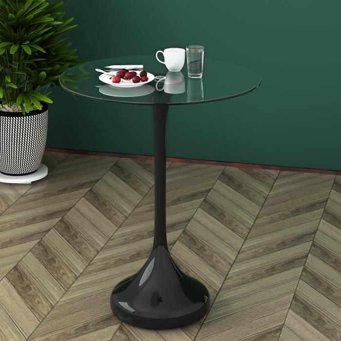 Table d'appoint Table basse en rond 50 x 55 cm - Desserte, Jardin, terrasse, intérieur, extérieur