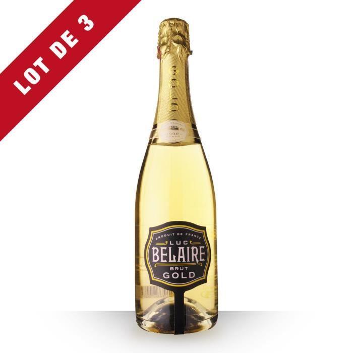 Lot de 3 - Luc Belaire Fantôme Brut Gold - 3x75cl - Vin Rosé