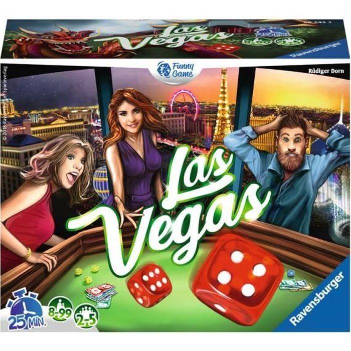 Las Vegas - Ravensburger - Jeu d'ambiance Enfants et Adultes - Pari, bluff et chance - 2 à 5 joueurs dès 8 ans