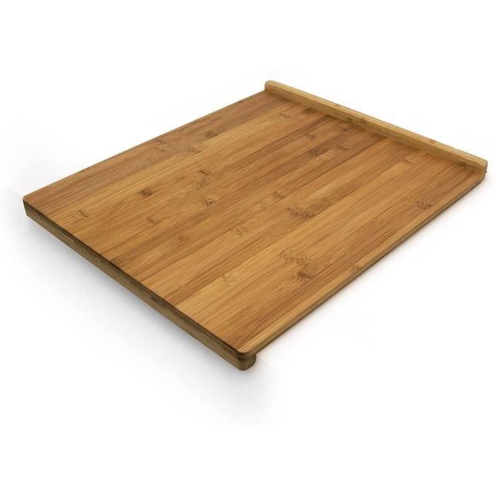 Relaxdays 10018882 Planche à Découper Tranchoir avec Rebords utilisable des deux côtés en Bambou plan de travail HxlxP : 2,5 x 38 x