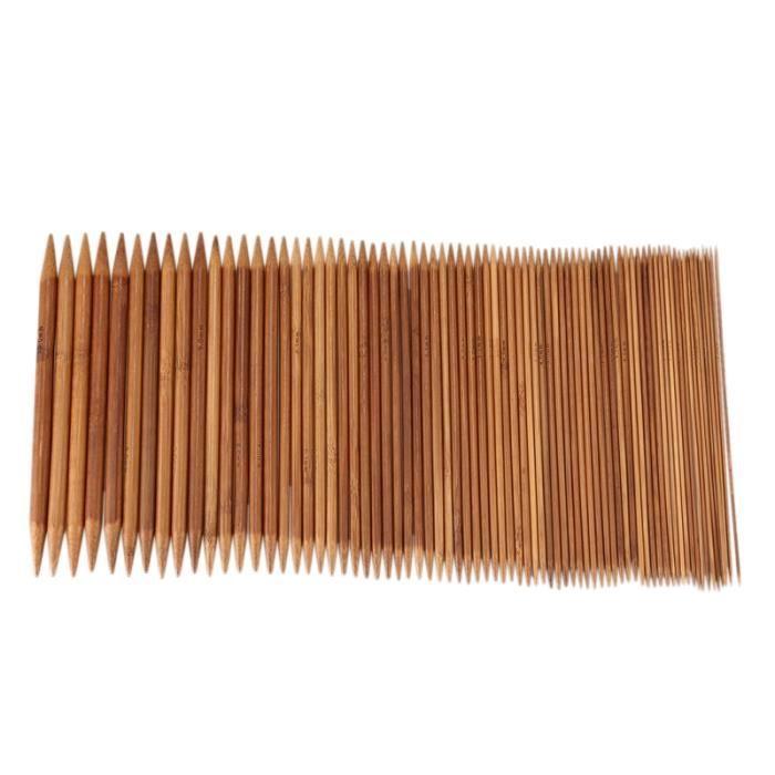 ZHEN Aiguilles à tricoter en bambou à Double pointe chandail gants à tricoter et chaussettes aiguille artisanale lisse