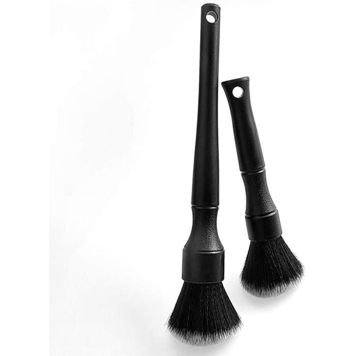 2pcs Auto Detailing Brush Brosse de Brosse à Détail,Cleaner Brush Set pour La Voiture Tableau de Bord,Extérieur, Bouches D'aération
