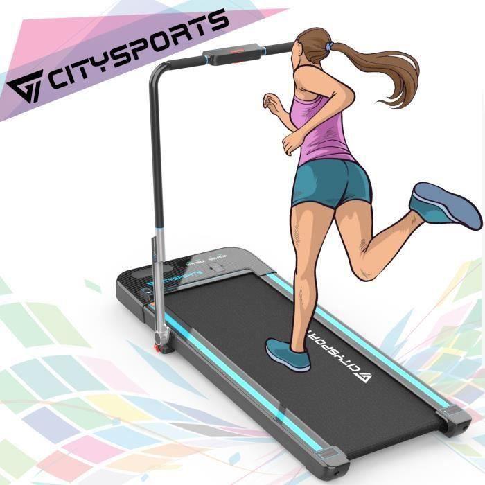 CITYSPORTS Tapis de Course, Fitness sur Tapis Roulant, Machine de Marche et Jogging avec Moniteur LCD
