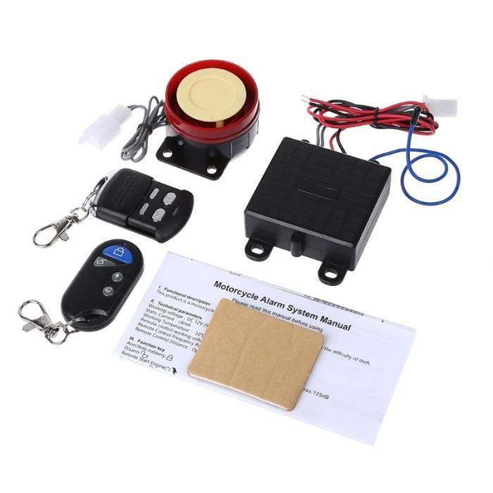 Système d'alarme de Sécurité Pour Scooter et Moto, Télécommande 12V, Antivol, 1xcf