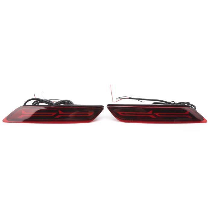 HURRISE feux arrière 2 pièces feu de pare-chocs arrière frein lampe de stationnement IP68 étanche pour Honda City 2017-2018