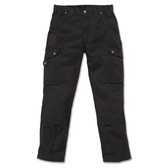 Pantalon CARGO 100% coton armé Ripstop avec renforts noir W33/L32 CARHARTT S1B342BLK3332