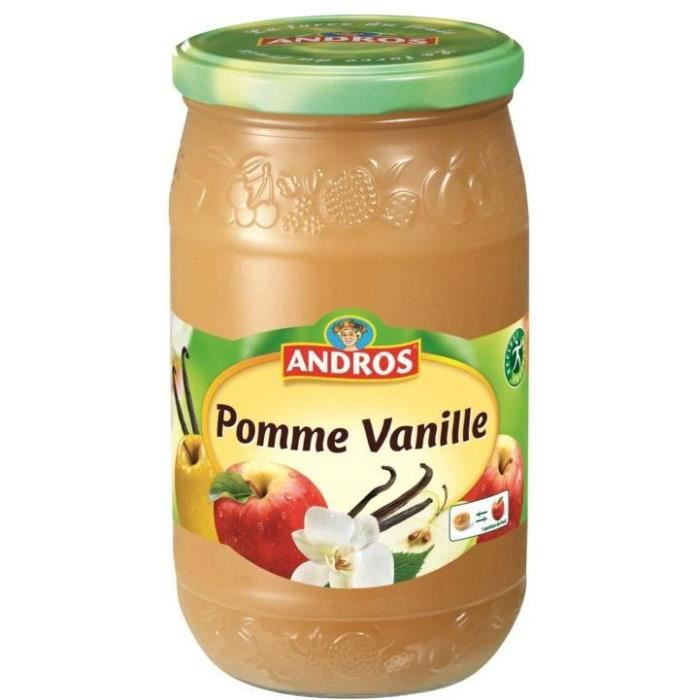 ANDROS Compote Pomme Vanille - 750 g