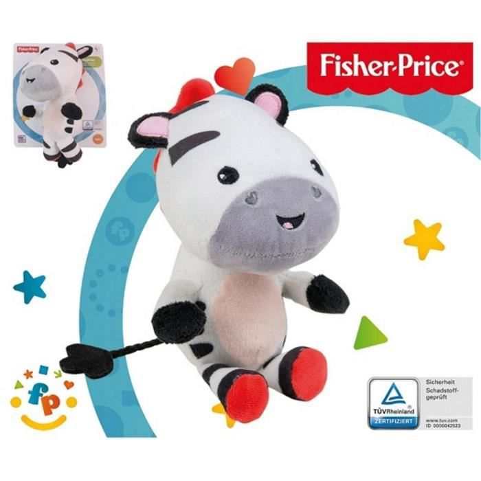 Fisher-Price - Peluche Doudou Zèbre