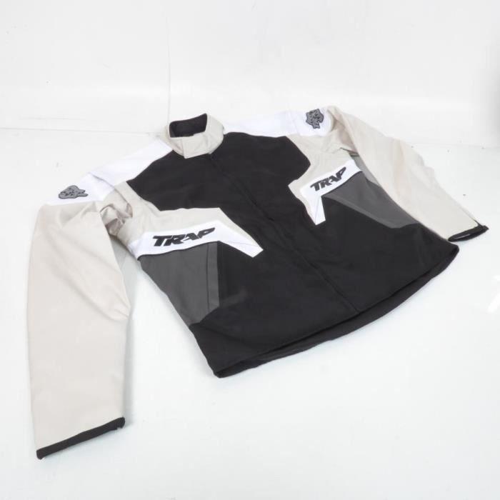Veste de moto d'enduro grise Trap Taille XL Jacket trap enduro man grey cross TT