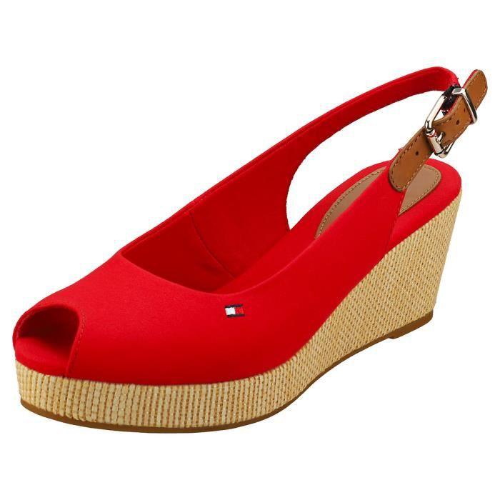 Sandales - Tommy Hilfiger - Iconic Elba Sling Back - Femme - Rouge