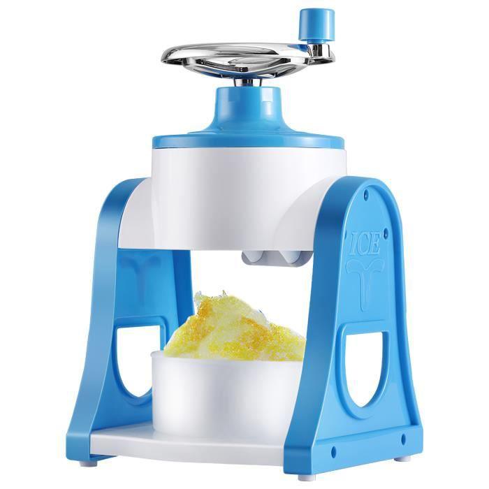 SEAU A GLACONS -Machine à glace pilée à la main, bleu