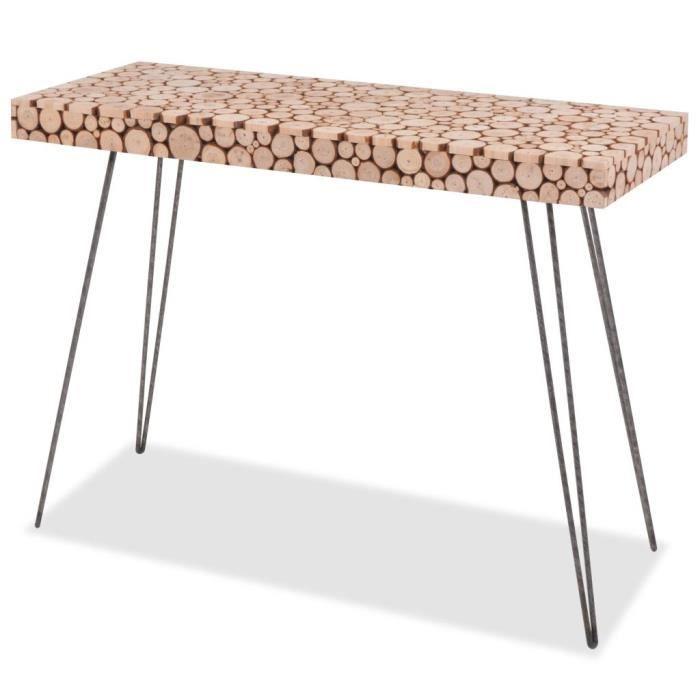 Table Console-Table d'entrée-Table de Salon Bois véritable 100,5 x 36,8 x 75 cm