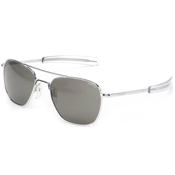 Accessoires Homme Casual Randolph Aviator 58 Mm Polarized - Glass Gray Ar - Argent