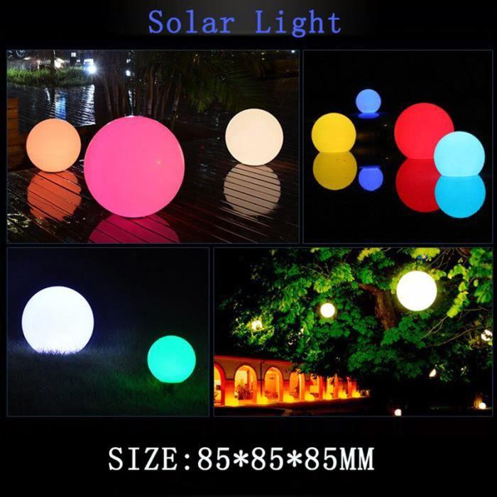 Éclairage d'Ambiance Lampe Boule Lumineuse LED de décor de jardin de piscine Lumière colorée Sans télécommande