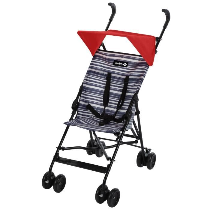 SAFETY FIRST Poussette Canne Fixe Peps + Canopy Blue Lines