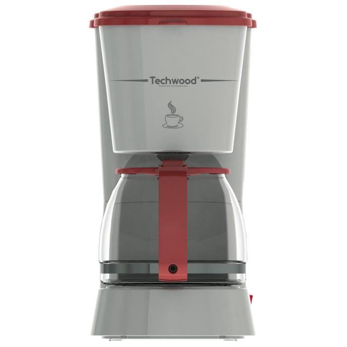 TECHWOOD TCA-685 Cafetière filtre - Gris et Rouge